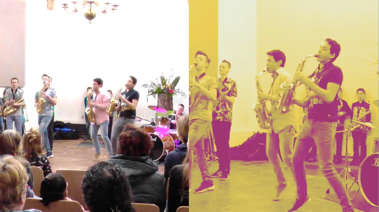 Leerlingen van de Goudse Saxofoon zetten een streep door discriminatie…..