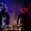 Licht en Saxofoon spektakel tijdens Kaarsjes avond.