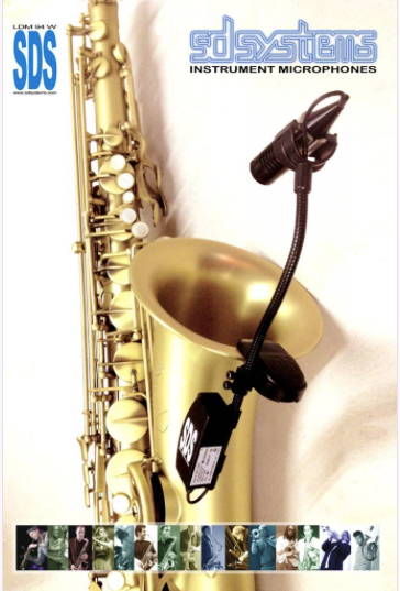 Super microfoons voor saxofoon van SD System!